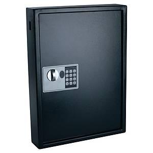 Cassetta portachiavi alta sicurezza Pavo 100 posti in acciaio nero