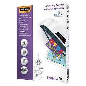 Fellowes Laminating Pouch 80 Micron A5 - Pack of 100