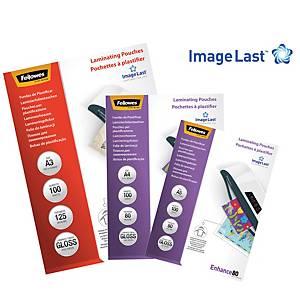 Pack de 100 bolsas para plastificar Fellowes - A5 - 80 µ - brilhante
