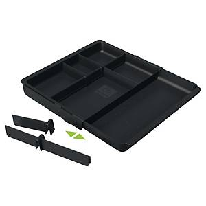 Exacompta ECOBlack Recycled DRAWERINSERT Adjustable Drawer Insert, Black