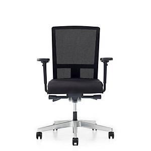 Prosedia Se7en Flex bureaustoel met wielen zachte ondergrond, stof/mesh, zwart