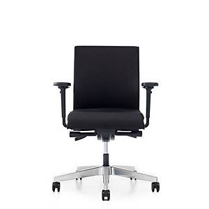 Prosedia Se7en Flex bureaustoel met wielen zachte ondergrond, stof, zwart