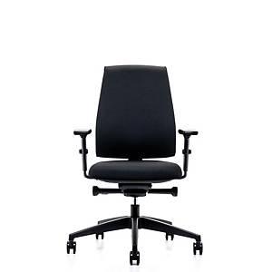 Prosedia Se7en Basic bureaustoel met wielen harde ondergrond, stof, zwart