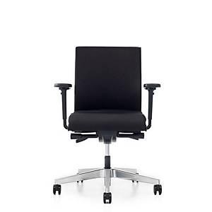 Siège de bureau Prosedia Se7en Flex avec roulettes sol dur, tissu, noir