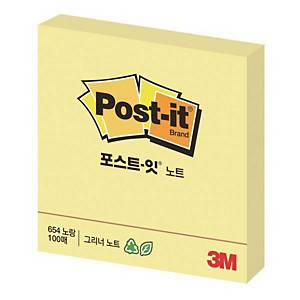 3M POST IT 654 RE/NOTES 76X76 YLLW