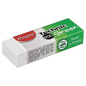 Gomme Maped Technic 600 Green, pour crayon, fourreau en carton, la pièce
