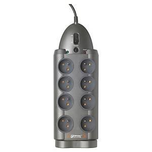 Multiprise 5 prises parafoudre Infosec S8 avec interrupteur - cordon 1,8 m