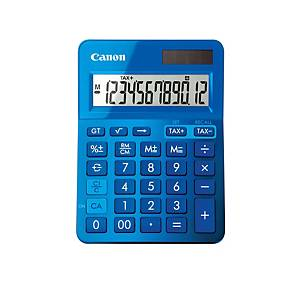 Tischrechner Canon LS-123K, 12-stellige Anzeige, blau