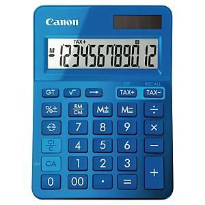 Calculadora de secretária Canon LS-123K - 12 dígitos - azul metálico