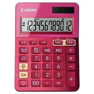 Tischrechner Canon LS-123KSER, 12-stellig, Solar/Batterie, pink