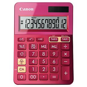 Calculadora de secretária Canon LS-123K - 12 dígitos - fúcsia metalizado