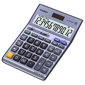 Calcolatrice da tavolo Casio DF-120TER II, visual. 12 cifre, blu metallico