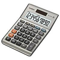 Calculatrice de bureau Casio MS-100BM, affichage de 10chiffres, argenté