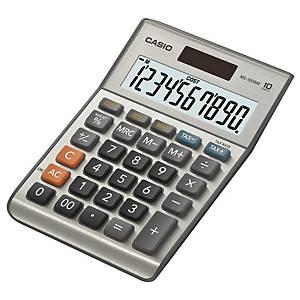 Calcolatrice da tavolo Casio MS-100BM, visualizzazione 10 cifre, argento