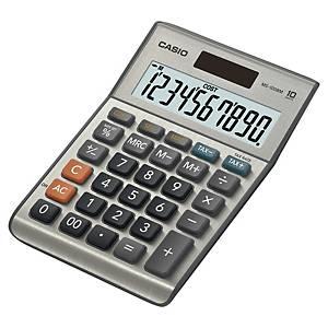 Tischrechner Casio MS-100BM, 10-stellig, Solar-/Batteriebetrieben, grau