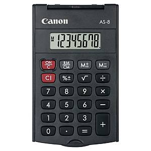 Canon AS-8 zakrekenmachine met cover, donkergrijs, 8 cijfers