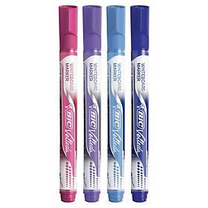 Bic Velleda non permanent marker - pack of 4 fashion colours