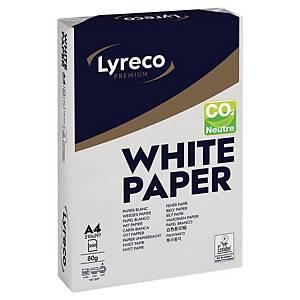 Papier blanc A4 Lyreco Premium - CO2 neutre - 80 g - 500 feuilles