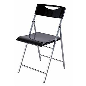 Alba Smile Black Folding Chair - Pack of 2