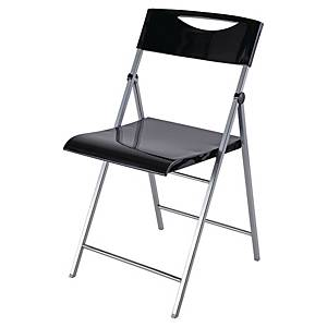 BX2 ALBA SMILE FOLDING CHAIR BLK