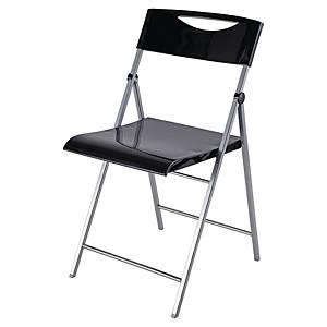 Pack 2 cadeiras de receção Alba Smile Glossy - preto