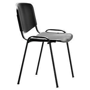 Chaise visiteur Sokoa Shell - empilable - polypropylène - noire