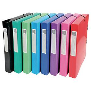 Exacompta Iderama Box na spisy, karton, šířka 40 mm, mix barev, 8 kusů