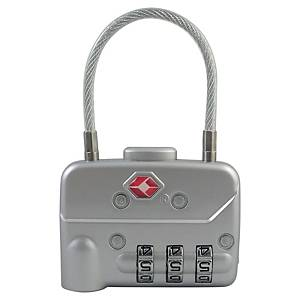 Pavo 8046744 numerical padlock with cable