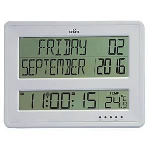 Cep Orium lcd digitale klok, met kalender, zilverkleurig