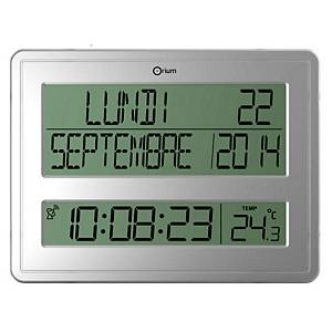 Orium Digital Clock With Calendar Silver