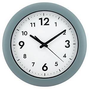 ALBA EASY TIME ROUND WALL CLOCK GREY