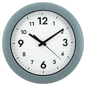 Väggklocka Alba Easytime, Ø 30 cm, grå ram