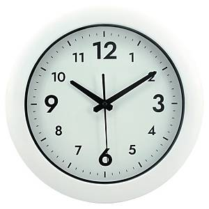 ALBA EASY TIME ROUND WALL CLOCK WHITE