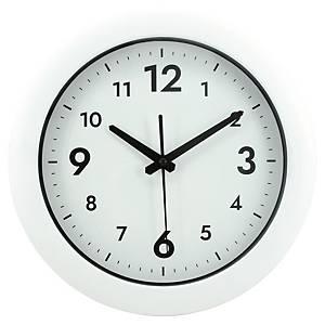 Wand-Uhr, 30 cm, weiss