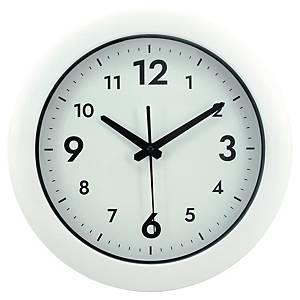 Nástenné hodiny s tichým chodom, biele, priemer 30 cm