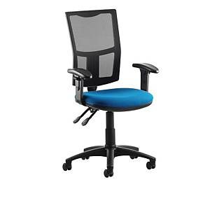 Origin Blue High Back Mesh Chair With Arms