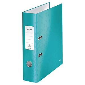Leitz 180° Wow Laminated A4 , 80mm Spine, Lever Arch File ICE Blue