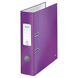 Leitz 180° Wow Laminated A4 , 80mm Spine, Lever Arch File Purple