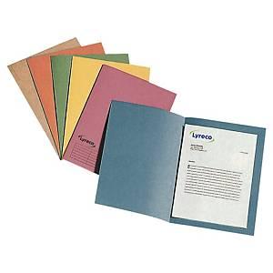 Pack de 100 subcarpetas Lyreco - folio - cartulina - azul