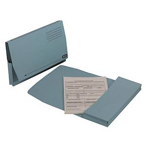 Elba Full Flap Foolscap Document Wallet Blue - Box of 50