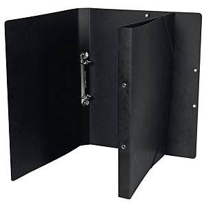 Ringbuch Biella Top Color, A4, 2-Ring,Gummiband, 2,5 cm Rücken, schwarz