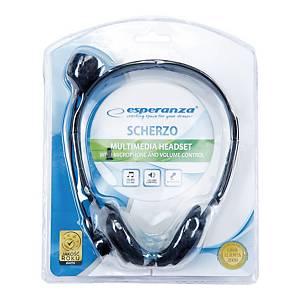 Słuchawki stereo z mikrofonem i regulacją głośności ESPERANZA EH102
