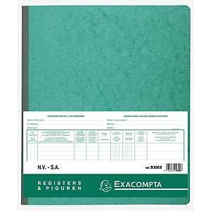 Exacompta 9300X AANDELENREGISTER/LIVRE DES ACTIONNAIRES, SA/NV