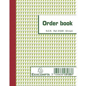 Exacompta ORDER BOOK 3133X, gelijnd, 135x105mm, 50 blad doorschrijfpapier tripli