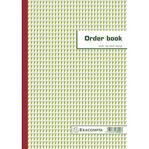 Exacompta ORDER BOOK 3141X, gelijnd 297x210 mm, 50 blad doorschrijfpapier tripli