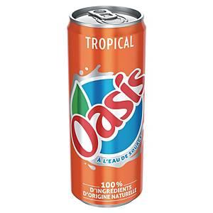 Oasis tropical 33 cl - plateau de 24 canettes slim