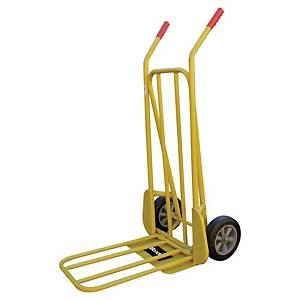 Diable Safetool, pliable, capacité de charge jusqu à 250 kg, jaune