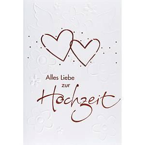 Carte de vœux ABC, Hochzeit,117x173 mm, allemand