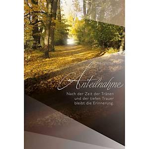 Carte de condoléances ABC, 117x173 mm, allemand