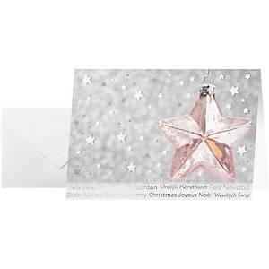 Weihnachtskarten Sigel A6, mehrsprachig, Pack à 10 Stück